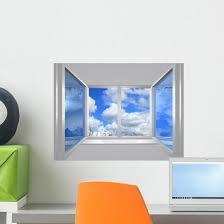 From Window Blu Sky Wall Decal Wallmonkeys Com