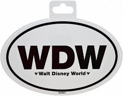 Amazon Com Wdw Walt Disney World Oval Auto Sticker Toys Games