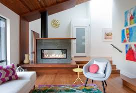 23 double sided fireplace designs in