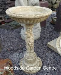 stone rose antique bird bath woodside
