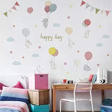 Amazon Com Decorstyle Cartoon Cute Cat Bunny Wall Decals Removable Kitty Friends Bunny Friends Wall Stickers Girls Bedroom Decal Art Decoration Kitty Decals Cats Rabbit Wall Sticker Bunny Friends Baby