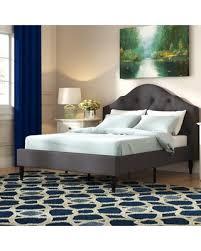 Amazing Summer Sales: Addie Upholstered Platform Bed Color: Gray, Size: King