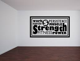Work Exercise Decal Fitness Room Decor Custom Quote Fitness Wall Decal Inspirational Wall Signs