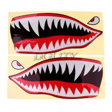 2x Shark Teeth Vinyl Decal Sticker For Canoe Kayak Fishing Boat Jetski Truck Graphics Decals