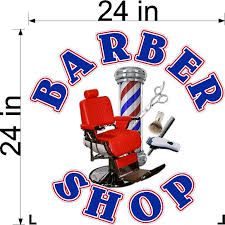 Vinyl Decal For Barber Shop Hair Dresser Wall Or Window New Walmart Com Walmart Com