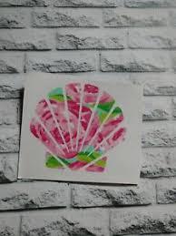 Seashell Lilly Rose Decal Vinyl Car Decal Glass Tumbler Cup Mug Sticker 3 5 H Ebay