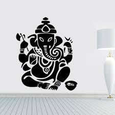 Buddhist Mandala God Elephant Vinyl Wall Decal Home Decor Bedroom Diy