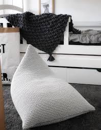 Knitted Bean Bag Chair Grey Beanbag Chair Kids Bean Bag Etsy