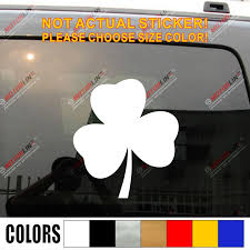 Shamrock Clover Decal Sticker Ireland Irish Car Vinyl Die Cut No Background Pick Color And Size Car Stickers Aliexpress