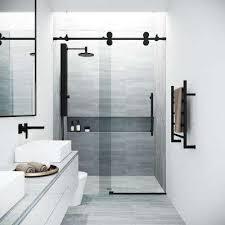 black shower doors showers the