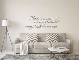Friends Wall Sticker Quote Friends Wall Decal Friends Wall Etsy Wall Stickers Living Room Wall Stickers Quotes Wall Stickers Bedroom