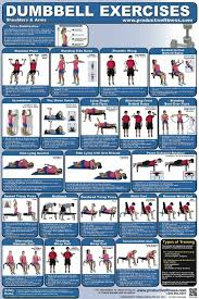 workout routine with dumbbells