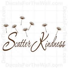 Home Garden Scatter Kindness Interior Home Vinyl Decal I006 Decor Decals Stickers Vinyl Art