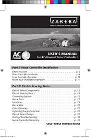 Zareba Eac25m Z Instructions Assembly Manualzz