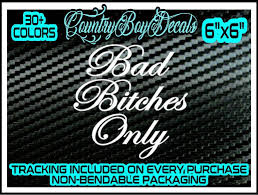 Amazon Com Bad Bitches Only Vinyl Decal Sticker Jdm Car Diesel Truck Turbo Boost Lowered Gt Mint Handmade