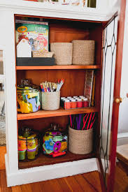 Small Space Organization Kids Craft Closet The Inspired Home