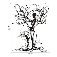 Shop Gothic Wall Decal Halloween Decor Skeleton Art Sticker Tree Wall Art For Living Room Wall Vinyl Overstock 17998778