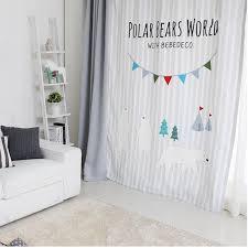 1x Drapery Panel Nursery Kids Children Room Curtain Window Dressing Covering 145 X 180cm 220cm 240cm 270cm Custom Made Bear Gray Drapes Curtain Room Windowchildren Room Aliexpress