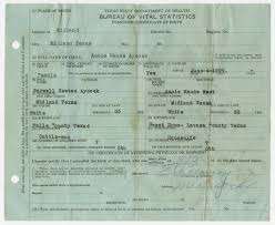 Birth Certificate of Annie Maude Aycock] - The Portal to Texas History