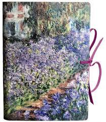 monet garden printed leather journal 6