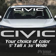 Honda Civic Logo Windshield Banner Car Window Wall Vinyl Sticker Decal