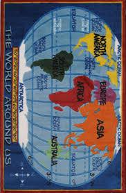 Zoomie Kids Horner Kids World Map Classroom Blue Area Rug Reviews Wayfair