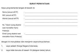 Link Download Kartu Prakerja Surat Pernyataan Gagal Seleksi Format Doc Siap Siap Gelombang 8 Kabar Lumajang