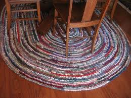 crochet oval rag rug from fabric ss