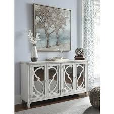 avery antique white timber mirror