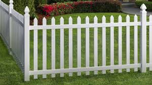 Veranda Glendale 3 5 Ft W X 4 Ft H White Vinyl Spaced Picket Fence Gate With 3 In Pointed Pickets 181981 The Home Depot Backyard Landscaping Backyard Landscaping Plans Different Types Of Fences