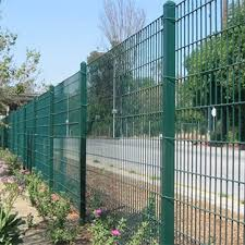 China Low Carbon Steel Q195 Material And Welded Mesh Type Double Wire Mesh Fence China Doubel Wire Fencing Q195 Wire Mesh Fence
