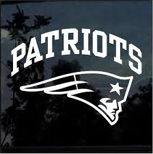 New England Patriots Window Decal Sticker Custom Sticker Shop