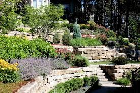 terraced landscape patio best backyard