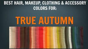 autumn color palette best hair makeup