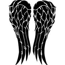 The Walking Dead Daryl Angel Wings Twd Vinyl Sticker