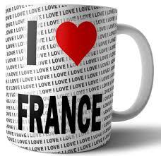 i love france tea coffee mug cup