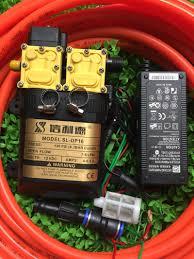MÁY RỬA XE MINI BƠM ĐÔI CỰC MẠNH SINLEADER KÈM NGUỒN 12V-5A 10M dây chịu  lực 1M dây hút lọc rác chuyển ống và còi xịt hoàn chỉnh, giá chỉ 799,000đ!  Mua