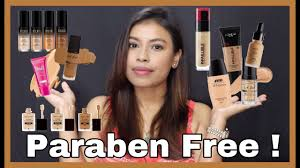 paraben free foundations