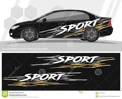 Sporty Car And Vehicles Decal Graphics Kit Designs Ready To Print And Cut For Vinyl Stickers Stock Vector Illustration Of Bike Layout 107137477