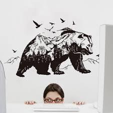 Mountain Black Bear Wall Stickers Bestofnative Com