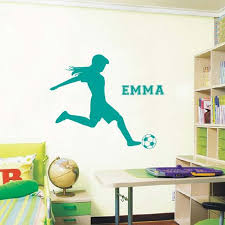 Online Shop Football Soccer Wall Decals Vinyl Personalized Name Poster Wall Art Wall Sticker For Kids Girls Rooms Decoration Wall Stickers Aliexpress Mobile