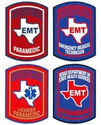 Premier Emblem Tx Emt And Paramedic Decals With Peel Off Back