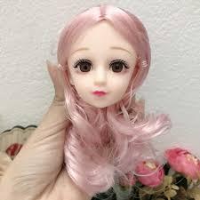 Đầu búp bê 36cm mặt xinh nhiều màu tóc
