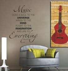 Music Gives A Soul To The Universe Wall Decal Removable Vinyl Etsy