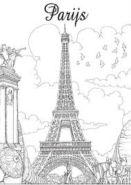 Inkijkexemplaar Kleurboek Voor Volwassenen Parijs Kleurplaten