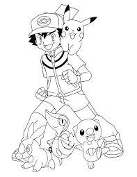 Pokemonkleurplaten Pokemon Friends Http Www Pokemon Kleurplaat