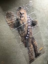 2005 Burger King Chewbacca Door Window Cling Poster Vinyl Lucasfilm Star Wars 1911545936