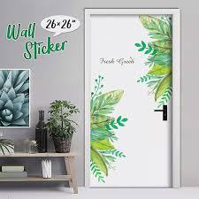 Creative Tropical Green Leaves Wall Sticker Waterproof Mural Decals For Door Living Room Bathroom Bedroom Decor Wish