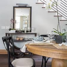 picture light above dining room mirror