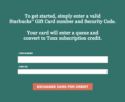 now accepting starbucks gift cards